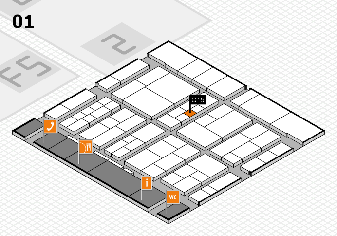 interpack 2017 hall map (Hall 1): stand C19