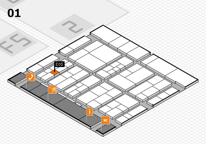 interpack 2017 hall map (Hall 1): stand E05
