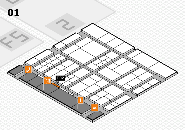 interpack 2017 hall map (Hall 1): stand D02