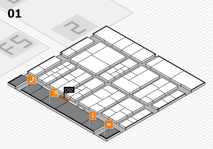interpack 2017 Hallenplan (Halle 1): Stand D02