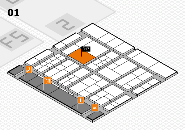 interpack 2017 hall map (Hall 1): stand D17