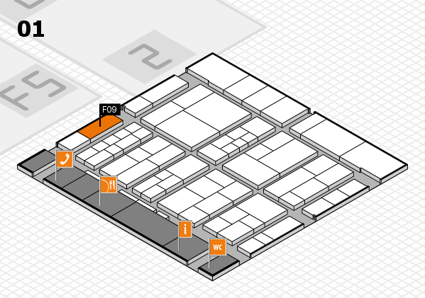 interpack 2017 hall map (Hall 1): stand F09