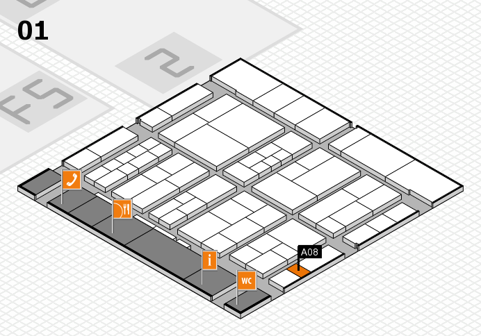 interpack 2017 hall map (Hall 1): stand A08