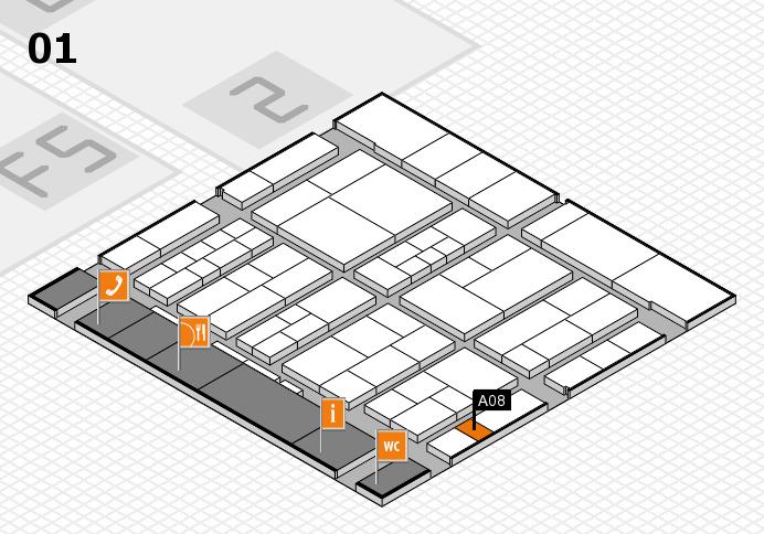 interpack 2017 Hallenplan (Halle 1): Stand A08