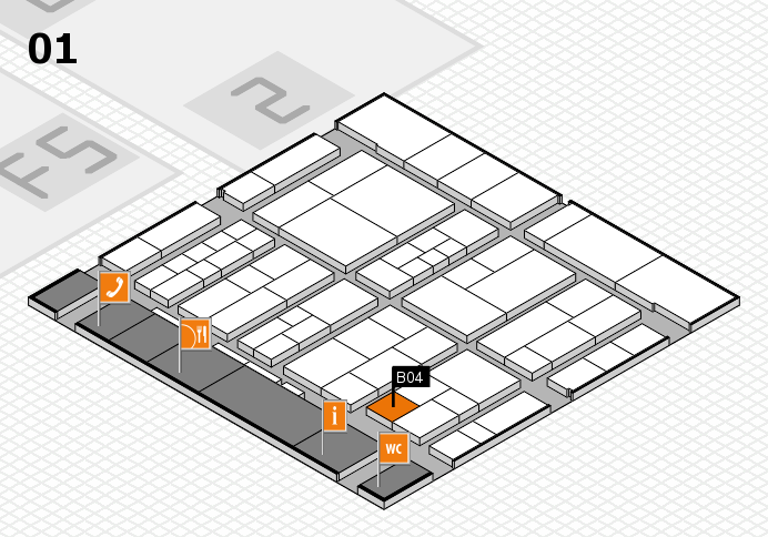 interpack 2017 hall map (Hall 1): stand B04