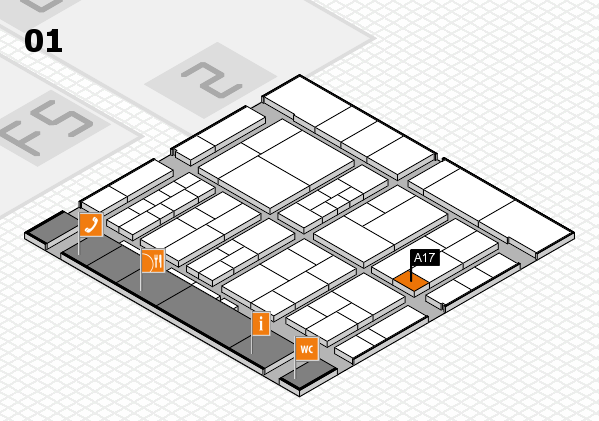 interpack 2017 hall map (Hall 1): stand A17