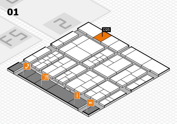 interpack 2017 Hallenplan (Halle 1): Stand D25
