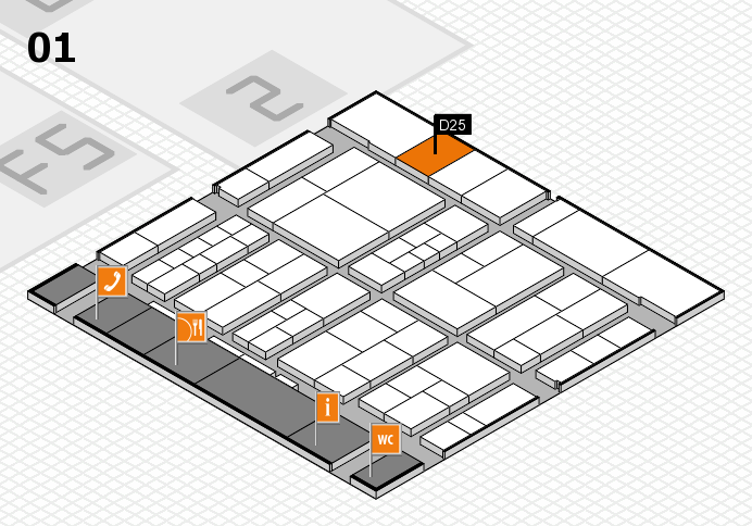 interpack 2017 hall map (Hall 1): stand D25