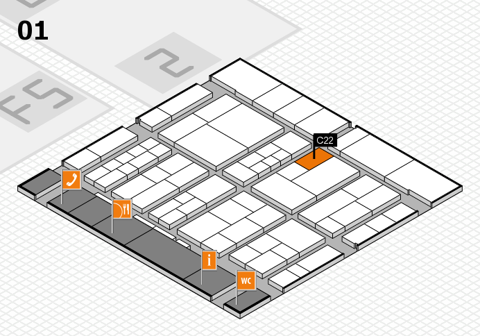 interpack 2017 hall map (Hall 1): stand C22