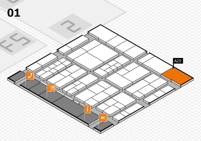 interpack 2017 Hallenplan (Halle 1): Stand A29