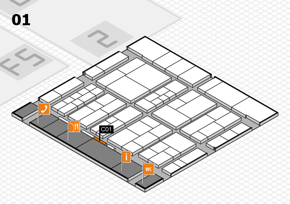 interpack 2017 hall map (Hall 1): stand C01