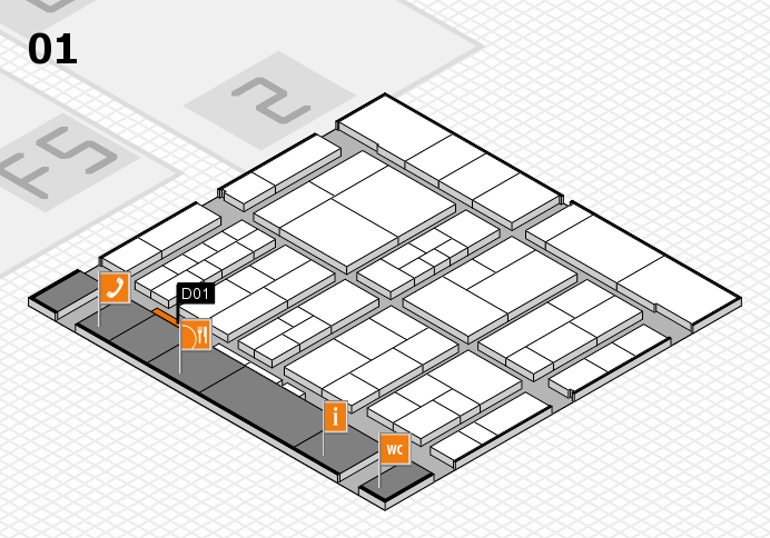 interpack 2017 Hallenplan (Halle 1): Stand D01