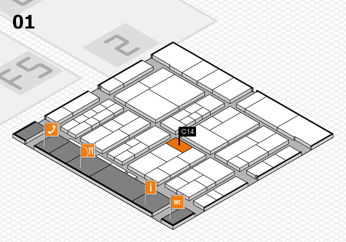 interpack 2017 hall map (Hall 1): stand C14
