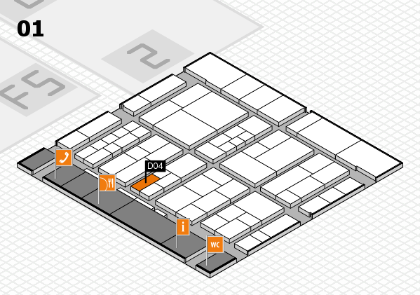 interpack 2017 hall map (Hall 1): stand D04