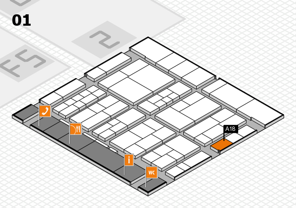 interpack 2017 hall map (Hall 1): stand A18