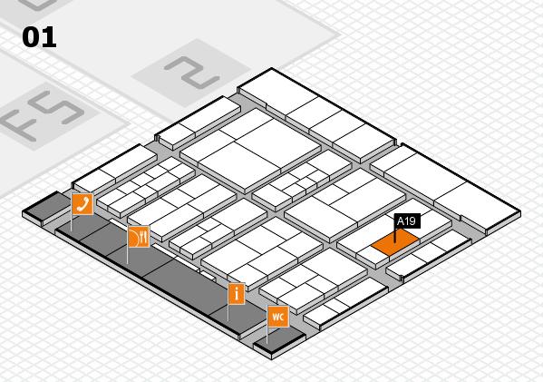 interpack 2017 Hallenplan (Halle 1): Stand A19