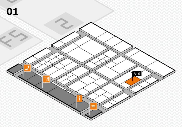 interpack 2017 hall map (Hall 1): stand A19