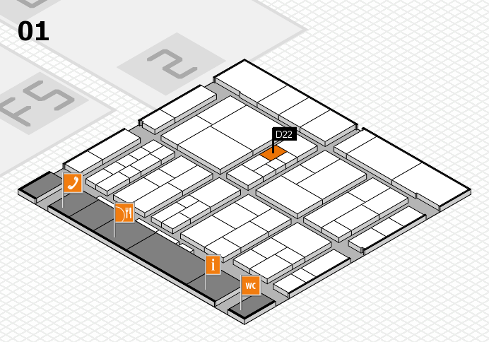 interpack 2017 hall map (Hall 1): stand D22