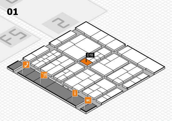 interpack 2017 hall map (Hall 1): stand D18