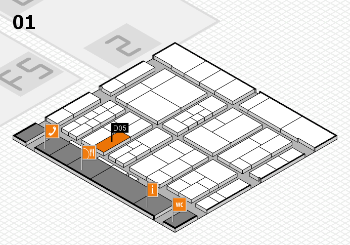 interpack 2017 hall map (Hall 1): stand D05