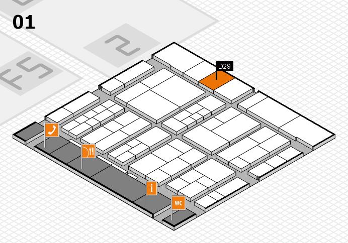 interpack 2017 Hallenplan (Halle 1): Stand D29
