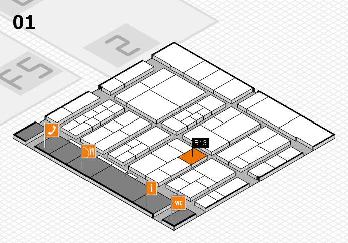 interpack 2017 hall map (Hall 1): stand B13