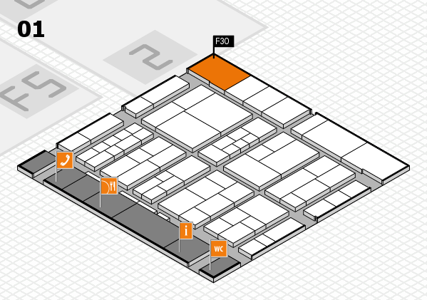 interpack 2017 hall map (Hall 1): stand F30