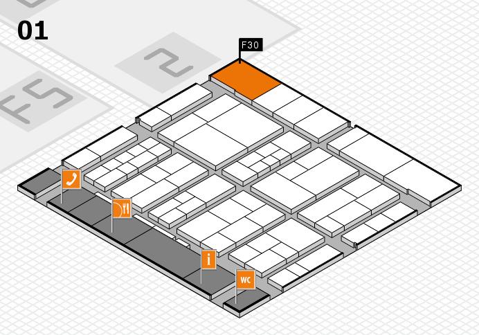 interpack 2017 Hallenplan (Halle 1): Stand F30