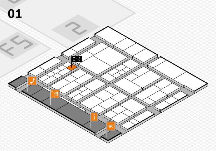 interpack 2017 Hallenplan (Halle 1): Stand E13