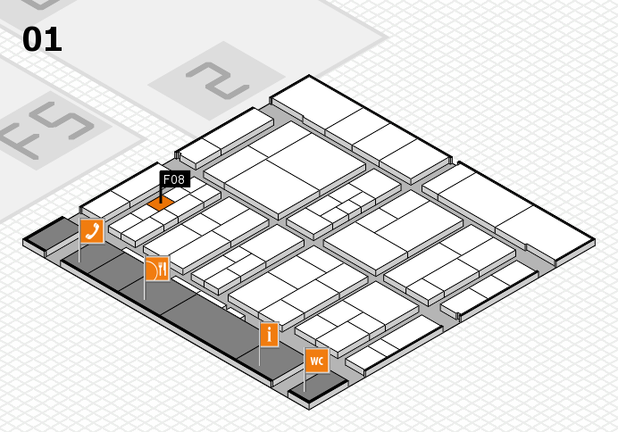 interpack 2017 hall map (Hall 1): stand F08