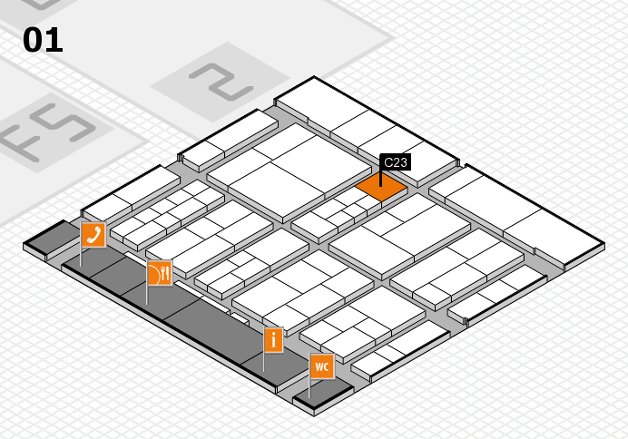 interpack 2017 hall map (Hall 1): stand C23
