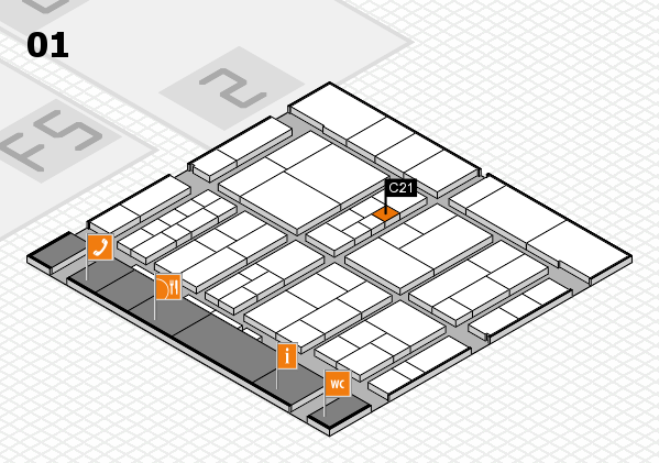 interpack 2017 hall map (Hall 1): stand C21