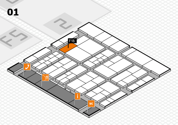 interpack 2017 hall map (Hall 1): stand F18