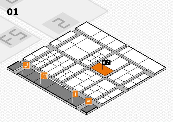 interpack 2017 Hallenplan (Halle 1): Stand B17