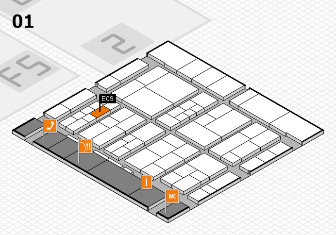 interpack 2017 hall map (Hall 1): stand E09