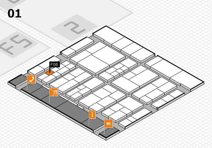 interpack 2017 hall map (Hall 1): stand F06
