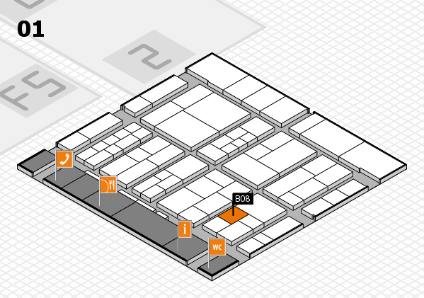 interpack 2017 hall map (Hall 1): stand B08
