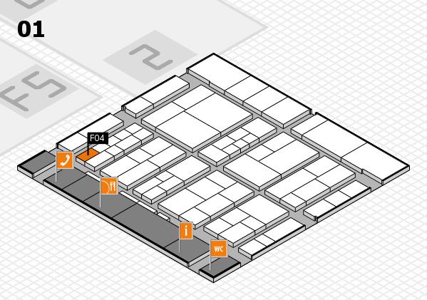 interpack 2017 Hallenplan (Halle 1): Stand F04