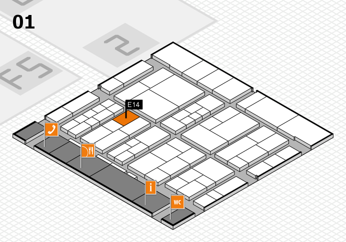 interpack 2017 hall map (Hall 1): stand E14