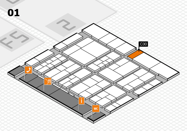 interpack 2017 hall map (Hall 1): stand C30