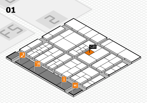 interpack 2017 hall map (Hall 1): stand C20