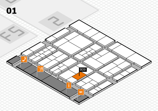 interpack 2017 hall map (Hall 1): stand B09