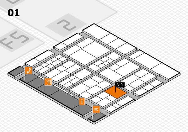 interpack 2017 hall map (Hall 1): stand A13