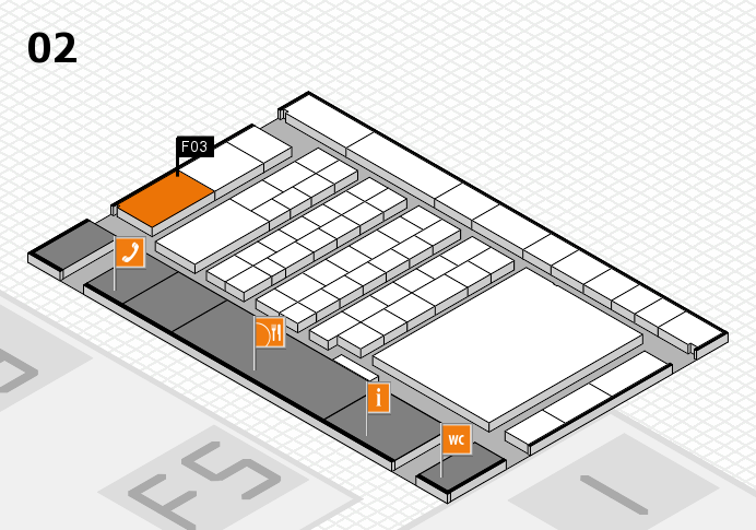 interpack 2017 hall map (Hall 2): stand F03