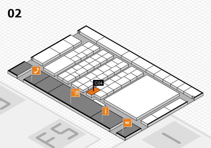 interpack 2017 Hallenplan (Halle 2): Stand C04