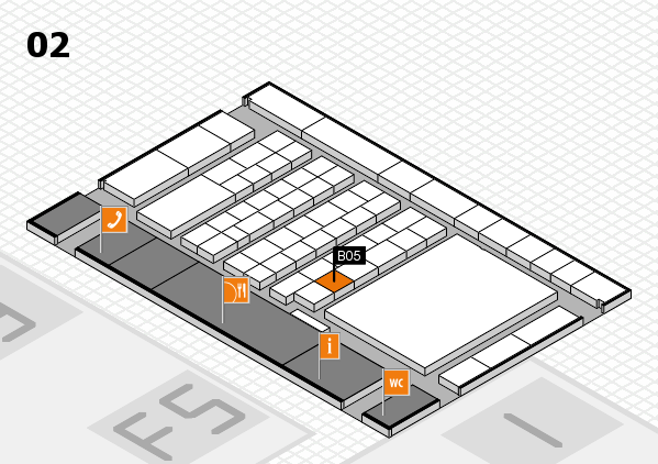 interpack 2017 hall map (Hall 2): stand B05