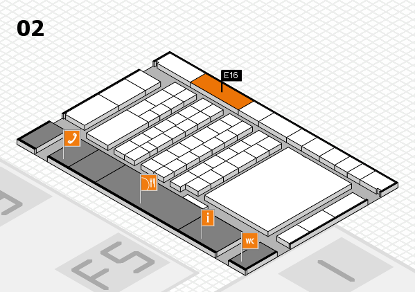 interpack 2017 hall map (Hall 2): stand E16