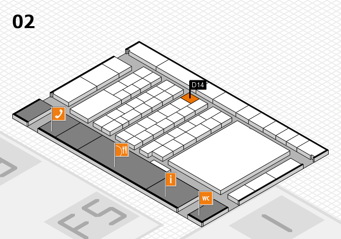 interpack 2017 hall map (Hall 2): stand D14