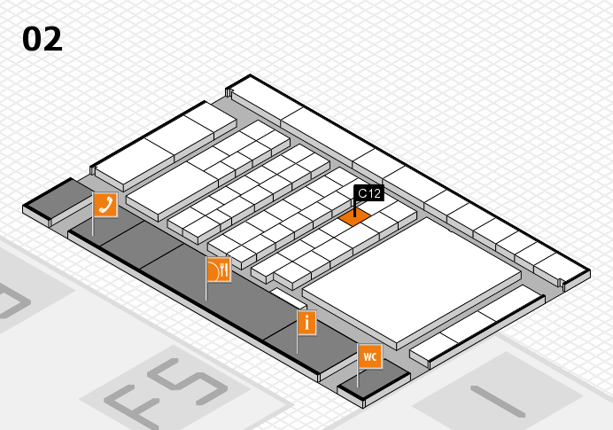 interpack 2017 hall map (Hall 2): stand C12