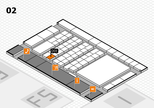 interpack 2017 Hallenplan (Halle 2): Stand D03